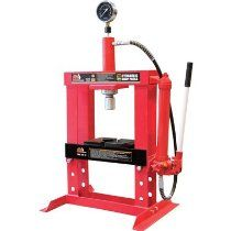 Torin Big Red Hydraulic Shop Press With Gauge Dial 10 Ton Model T51003 Hydraulic Shop Press Shop Press Car Shop