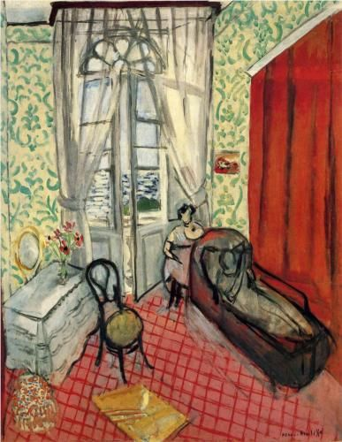 Henri Matisse 1869 1954 Expressionism Woman On Sofa Or Couch