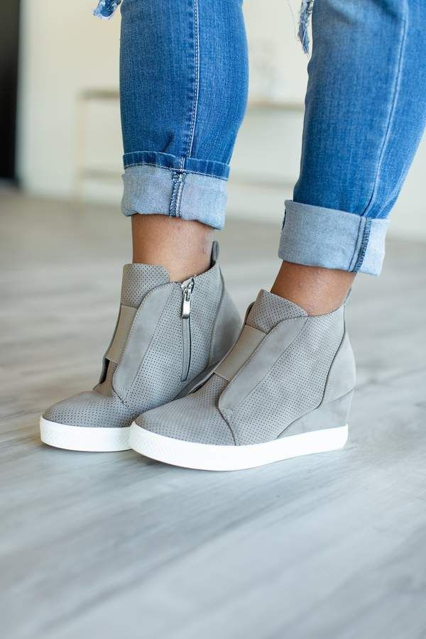 2cf013e78 Zoey Wedge Sneakers - Taupe