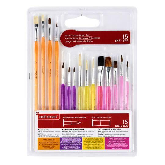 Multi Use Brush Set By Craft Smart Crafts Arts Crafts Supplies Brush Set