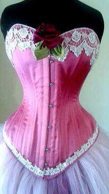 be110fef55 Pink Corset for Burning Man Shambala Costumes for Summer Festival. Rosa  Espartilho e vestido de casamento do conto de fadas por Tutu LaBelleFairy