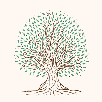 Download Hand Drawn Tree Life For Free How To Draw Hands Vector Free Nature Tree