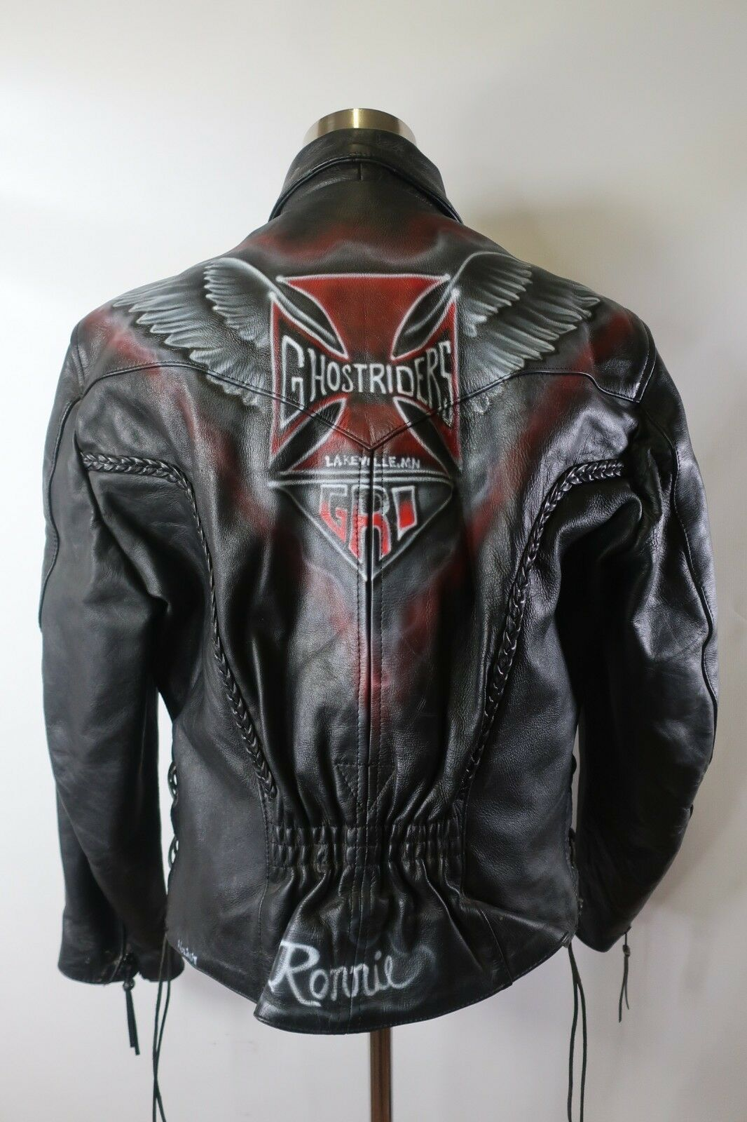 Forsale At 14 D03424 Vtg Interstate Full Zip Fringe Motorcycle Leather Jacket Size L Woman Leather Jacket Leather Jackets Women Leather Motorcycle Jacket [ 1600 x 1066 Pixel ]