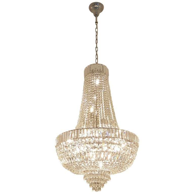 Art Deco Crystal Chandelier Empire Sac A Pearl Palace Lamp Chateau