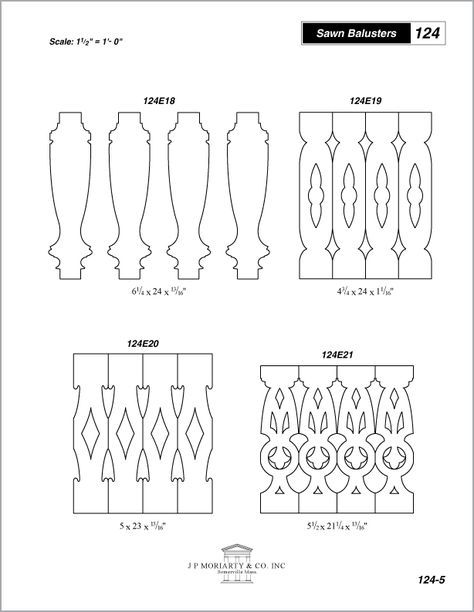 Porch Balusters, Wood