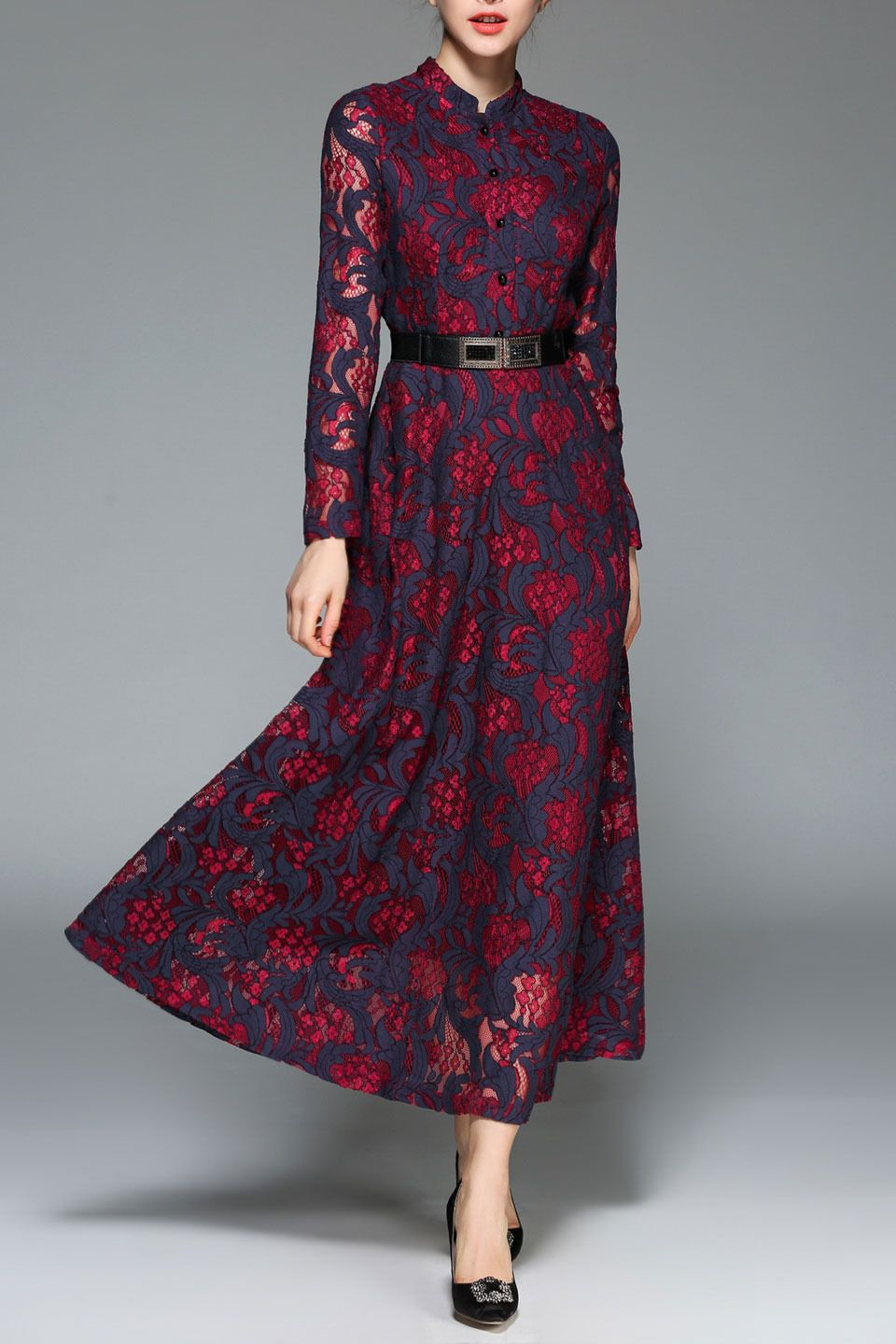 1c9c1fbde5 Kaimilan - Melanie Dress in Wine Red | Clothes in 2019 | Burgundy ...