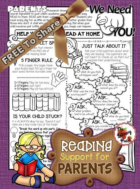 Reading Help for Parents Reading support for parents Looking for reading help Encourage your parents to help their kids read at home with this FREE printable full of stra...