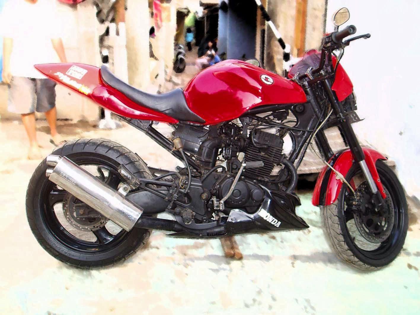 Foto modifikasi motor honda tiger agar tampak kekar