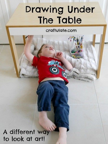 preschool art table. Drawing Under The Table From Craftulate. Toddler Art TableToddler Play Preschool E