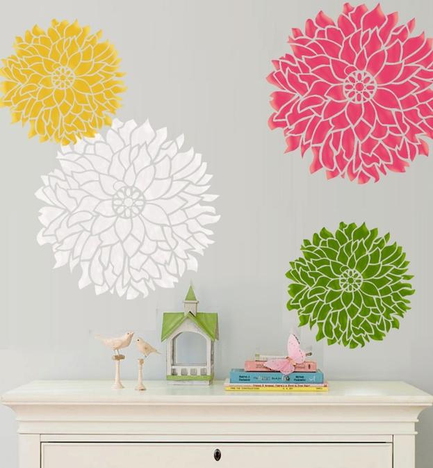 Enrhedando como hacer adhesivos o siluetas decorativas - Como hacer plantillas para pintar paredes ...