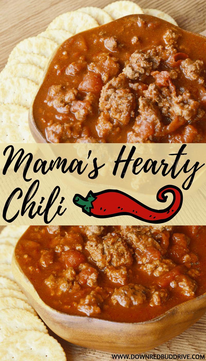 Mama S Hearty Chili Recipe Beanless Chili Recipe Chili Recipes Spicy Beanless Chili Recipe