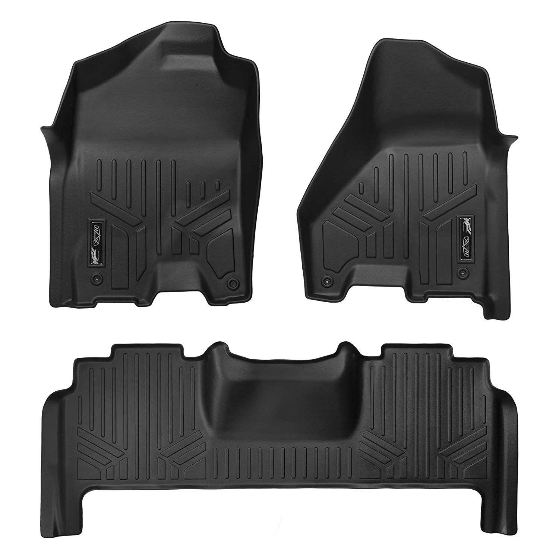 Smartliner Floor Mats 2 Row Liner Set Black For 2012 2018 Ram 2500 3500 Mega Cab W Dual Front Hooks Be Sure To Che Dodge Ram 2500 Ram 2500 Ram 2500 Mega Cab