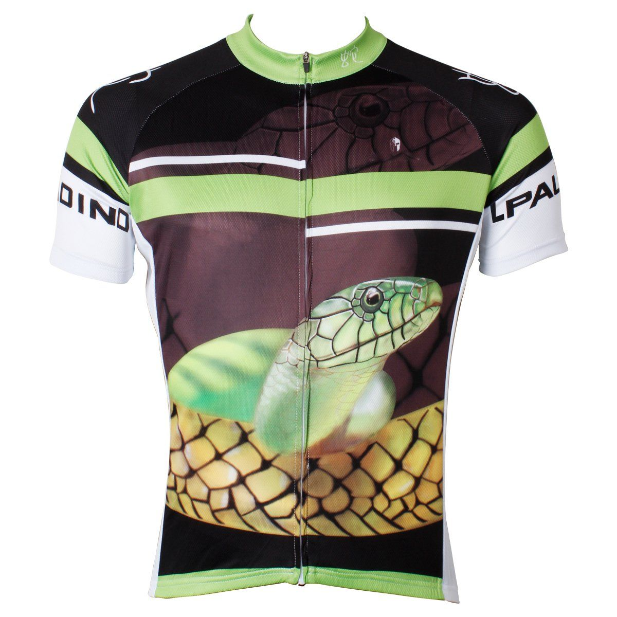 Ilpaladino Snake Men s Breathable Quick Dry Short-Sleeve Green Black Cycling  Jersey Bicycling Pro Cycle Clothing Racing Apparel Outdoor Sports Leisure  ... b175f6af4