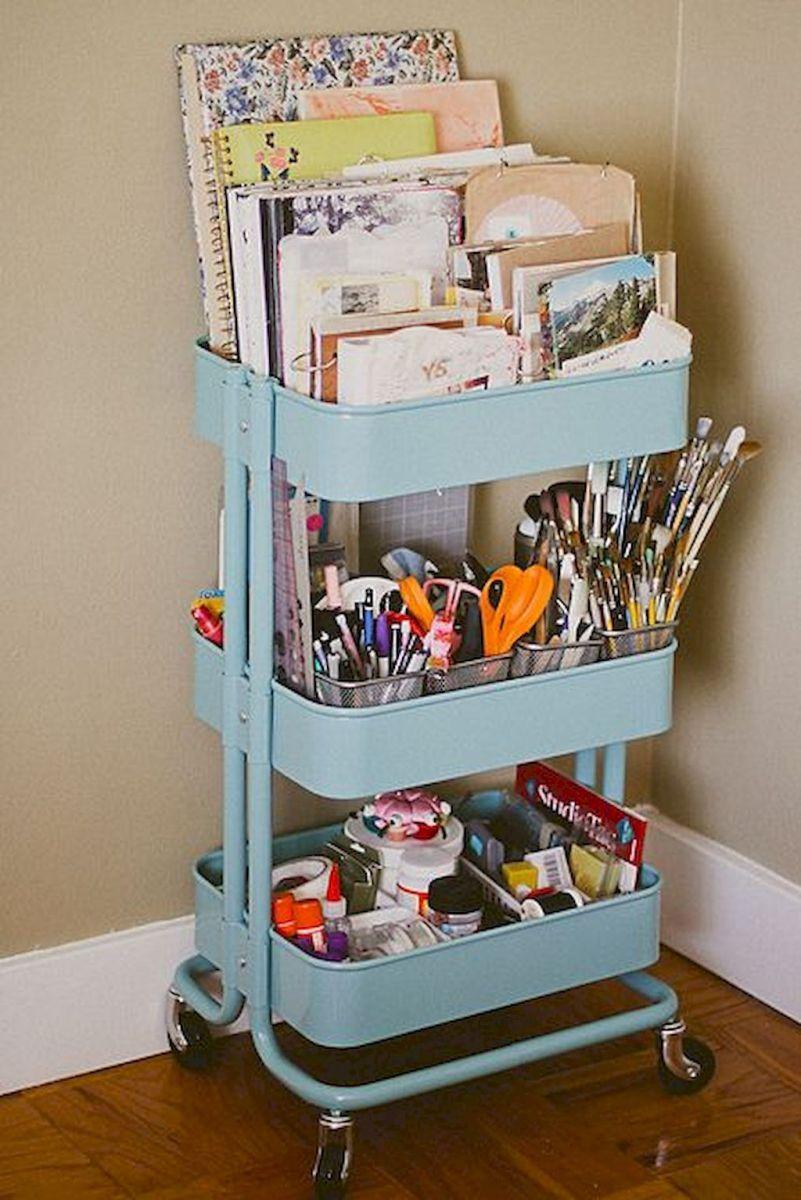 WAYS TO MAKE AN ART STUDIO Organization AT Ideas for Workspace Desks (52 images