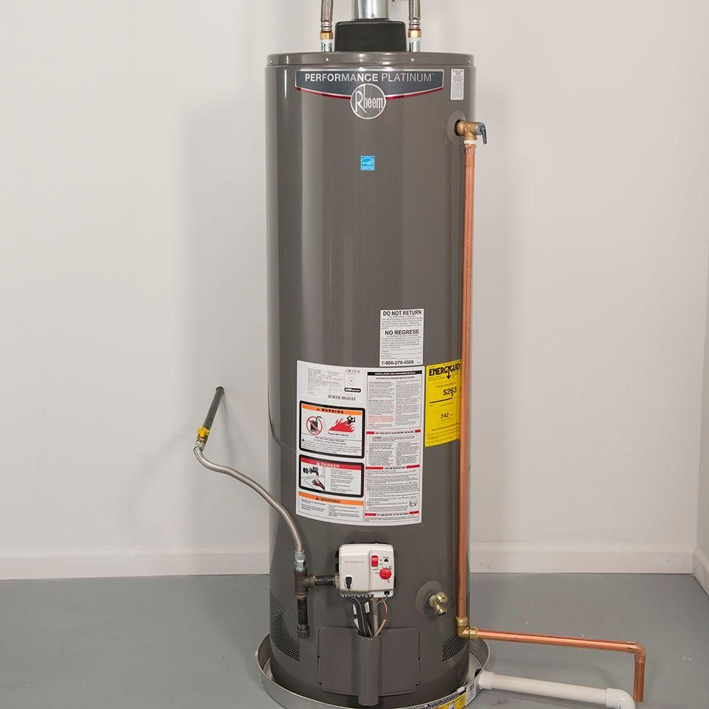 Rheem Performance Platinum 50 Gal Tall 12 Year 40 000 Btu Natural Gas Energy Star Tank Water Heater Xg50t12dm40u0