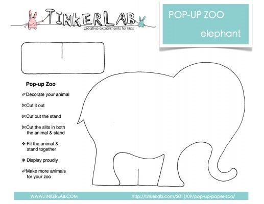 Pop up Paper Zoo {Free Download} | fun for kids  | Templates
