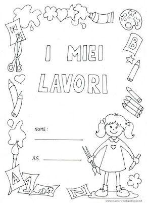 Maestra nella copertine 39 i miei lavori 39 bambino e bambina for Lavoretti natale scuola infanzia maestra mary