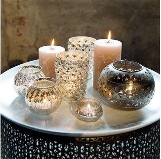 Dekoteller Holz Windlichter Laternen Kerzen Decoracion Hogar