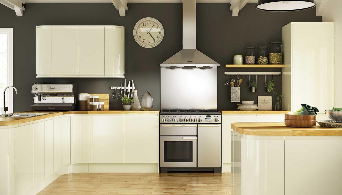 Kitchen Ideas Cream Gloss holborn gloss cream kitchen | kitchens my style & breakfast rooms