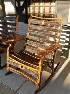 Handmade Rockingchair From Whiskey Wooden Barrell Jack Daniels Distillery