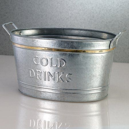 Galvanized Tin Cold Drinks Tub By First Alliance Marketing Group