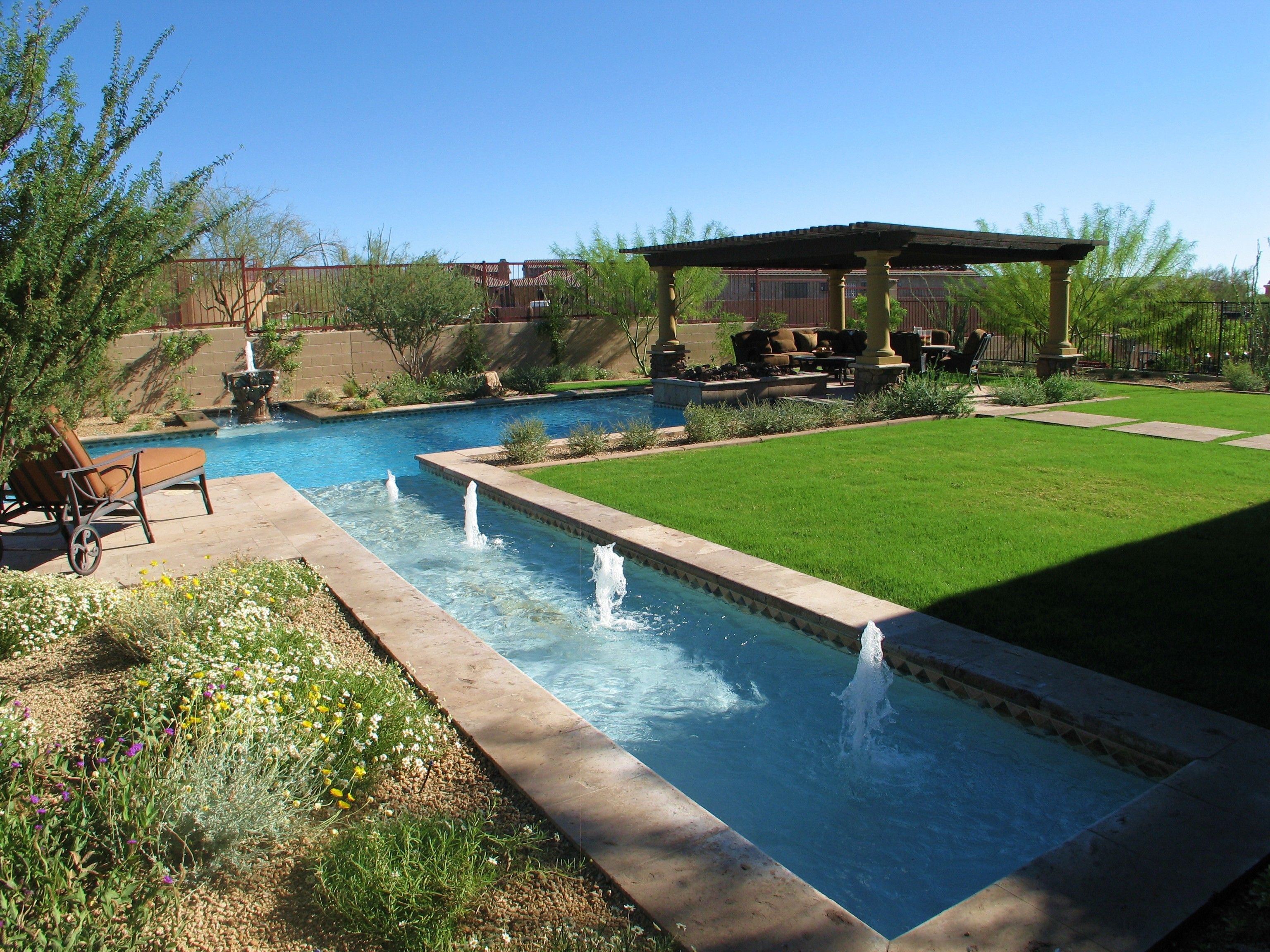 top 10 beautiful backyard designs | backyard, pool fountain and