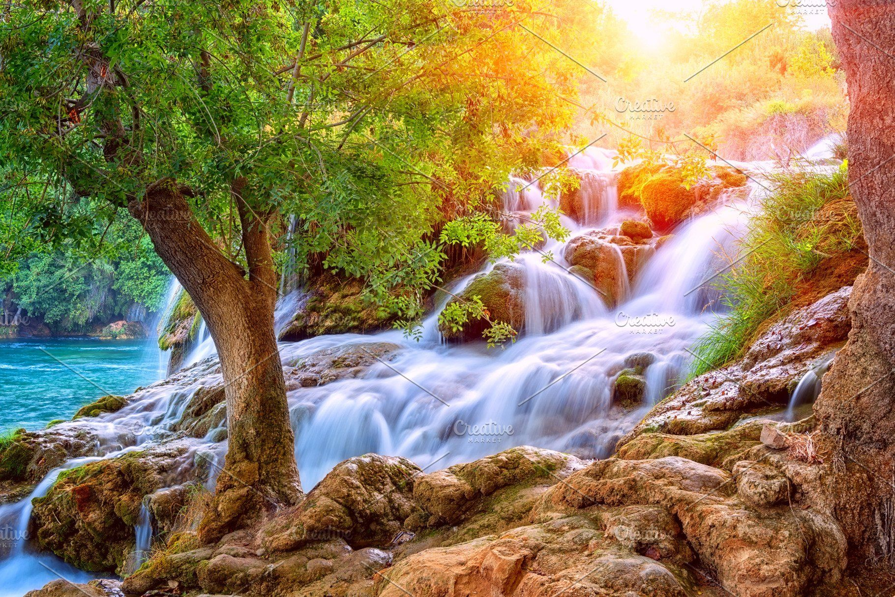 Amazing Nature Landscape Waterfall High Quality Nature Stock Photos Creative Market In 2020 Amazing Nature Photos Amazing Nature Landscape