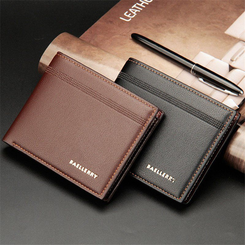 Men/'s Bifold Leather Wallet ID Credit Card Holder Billfold Purse Clutch 2019