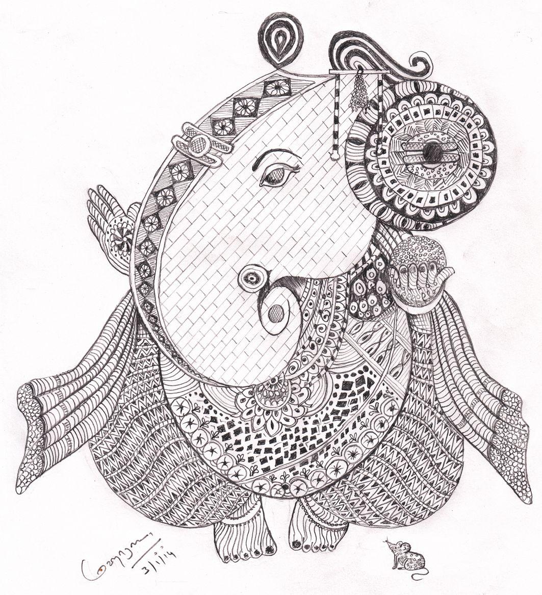 Black pen sketch