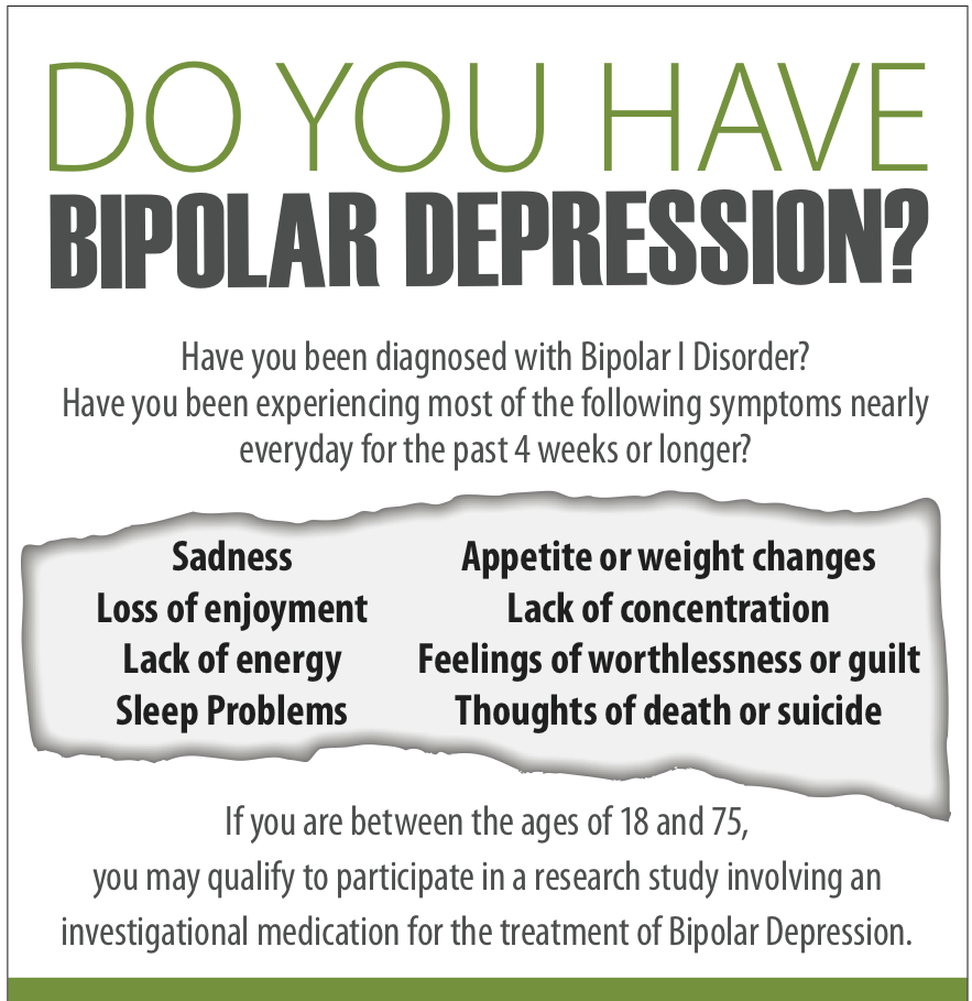 bipolar | bipolar depression medical study in new york city | cure