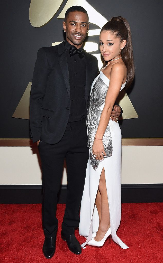 Aww! Ariana Grande and Big Sean Have a Total Lovefest on the Grammys Red Carpet