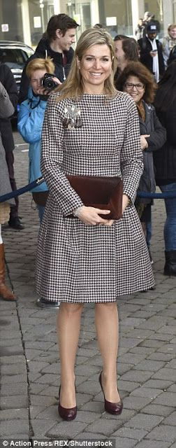 Royals & Fashion - Queen Maxima attended a seminar on microfinance which was held at the University of The Hague.