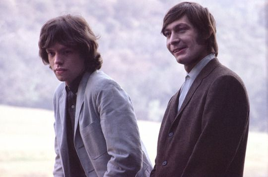 Mick Jagger and Charlie Watts of The Rolling Stones