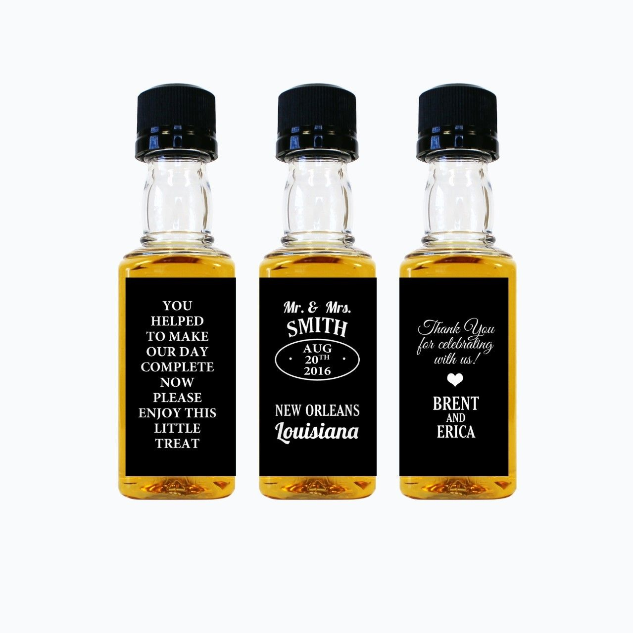 Jack Daniels Mini Bottle Wedding Favors | Mini bottles, Favors and ...