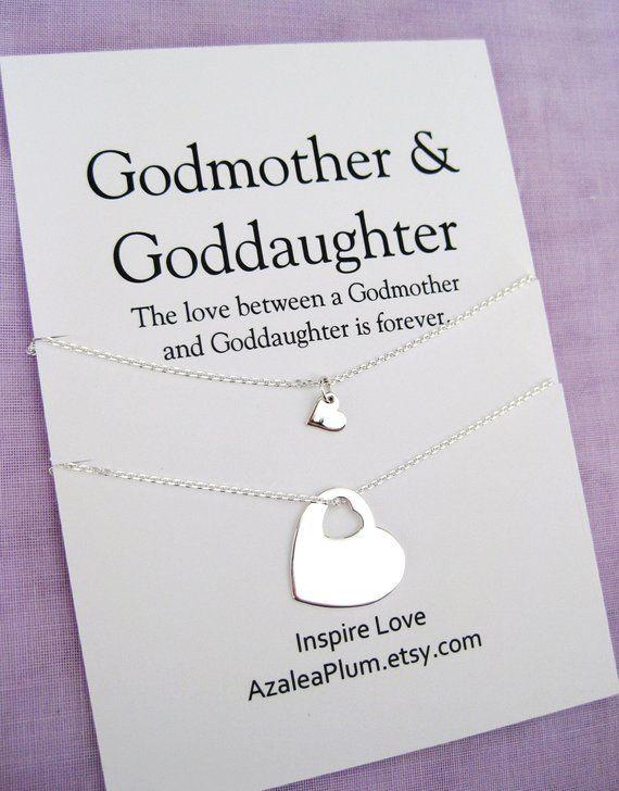 Godmother Goddaughter GODDAUGHTER Gift Solid Sterling Silver Necklace For