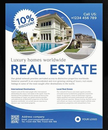 8 Best Free And Premium Real Estate Flyer Templates For Agencies And
