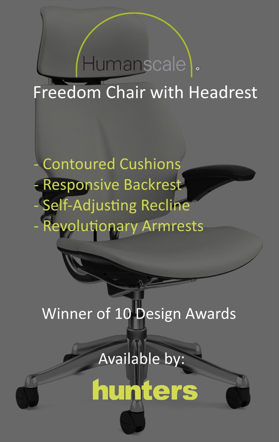 humanscale freedom task chair with headrest review