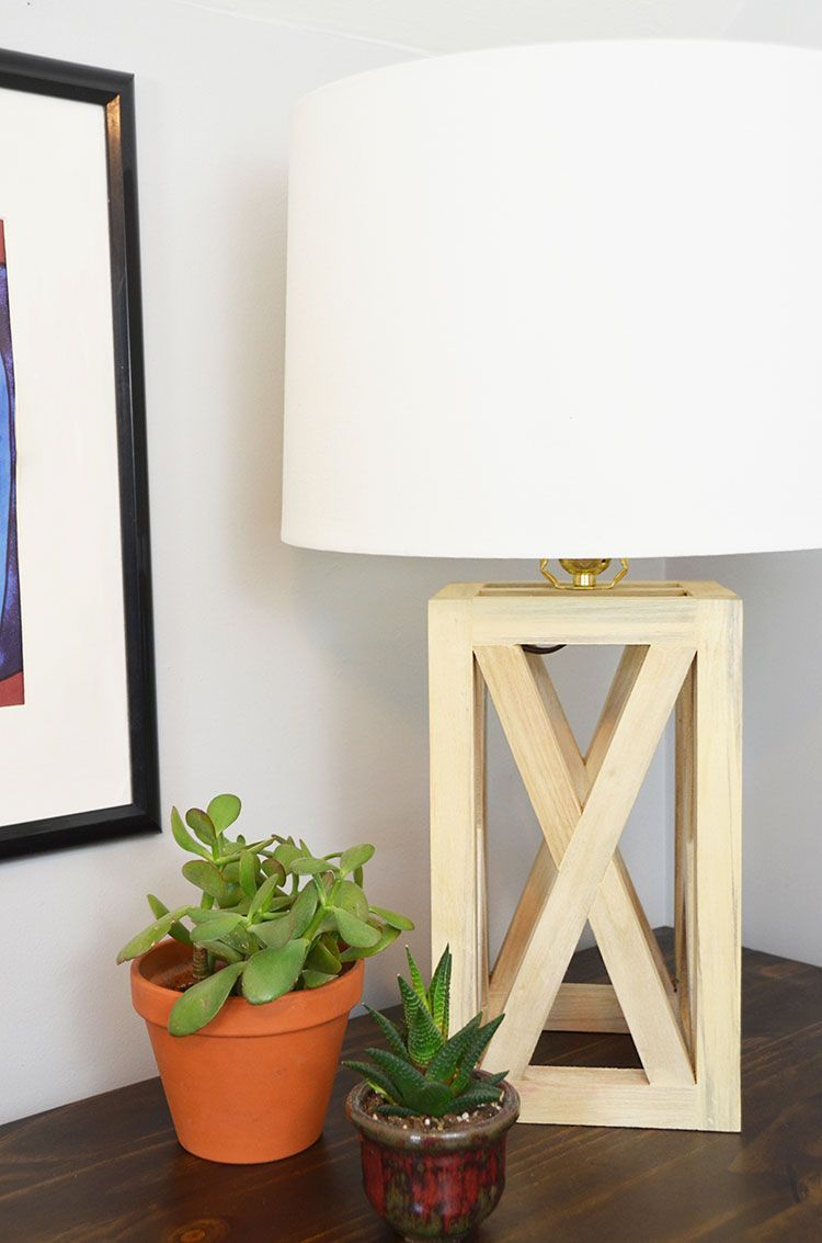 This wooden table lamp is an easy DIY project, and it looks great