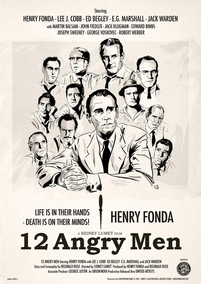 12 Angry Men Poster Art By Christopher King | 12 angry men movie, Classic movie  posters, Movie posters