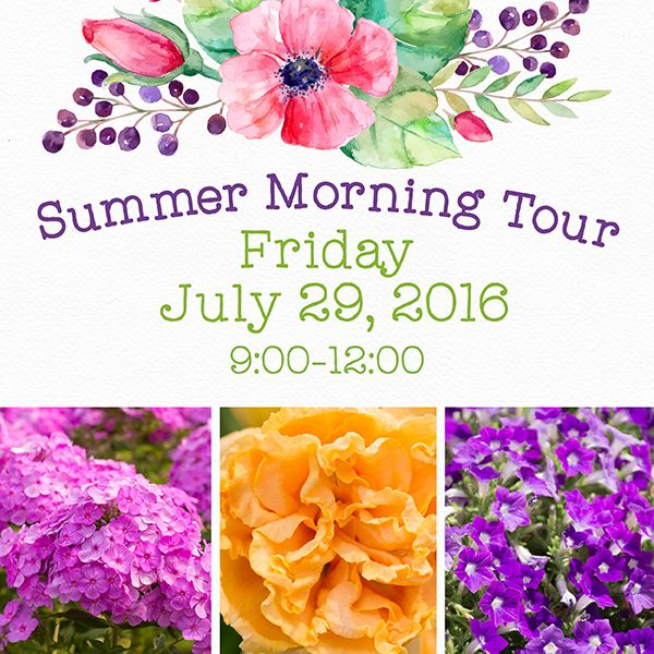 Beat the heat! Summer Morning Tours finish early and do not include a lunch. Allen will be your guide for these special events. Three Hour Tours include: Tour three levels of P. Allen Smith's Arkansas farm home, inspired by Thomas Jefferson's style and aesthetic. Explore Allen's terraced gardens above the Arkansas River, the Hidden Rose …
