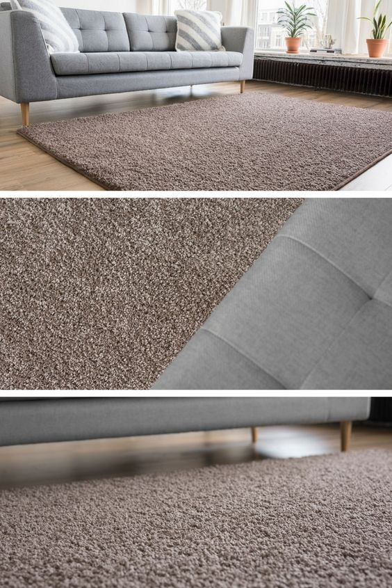 Vloerkleed Shaggy Collection Taupe - Interieur05 | Moderne ...