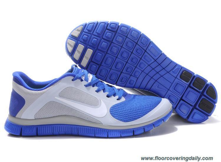 d1ab631d19ee91 579958-014 Nike Free 4.0 V3 Wolf Grey White Hyper Blue Mens Sale ...