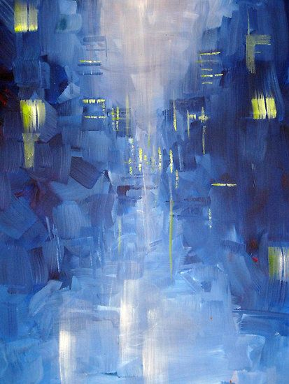 Sam Durkin - Cold City Abstract Skyline | For the Walls ...