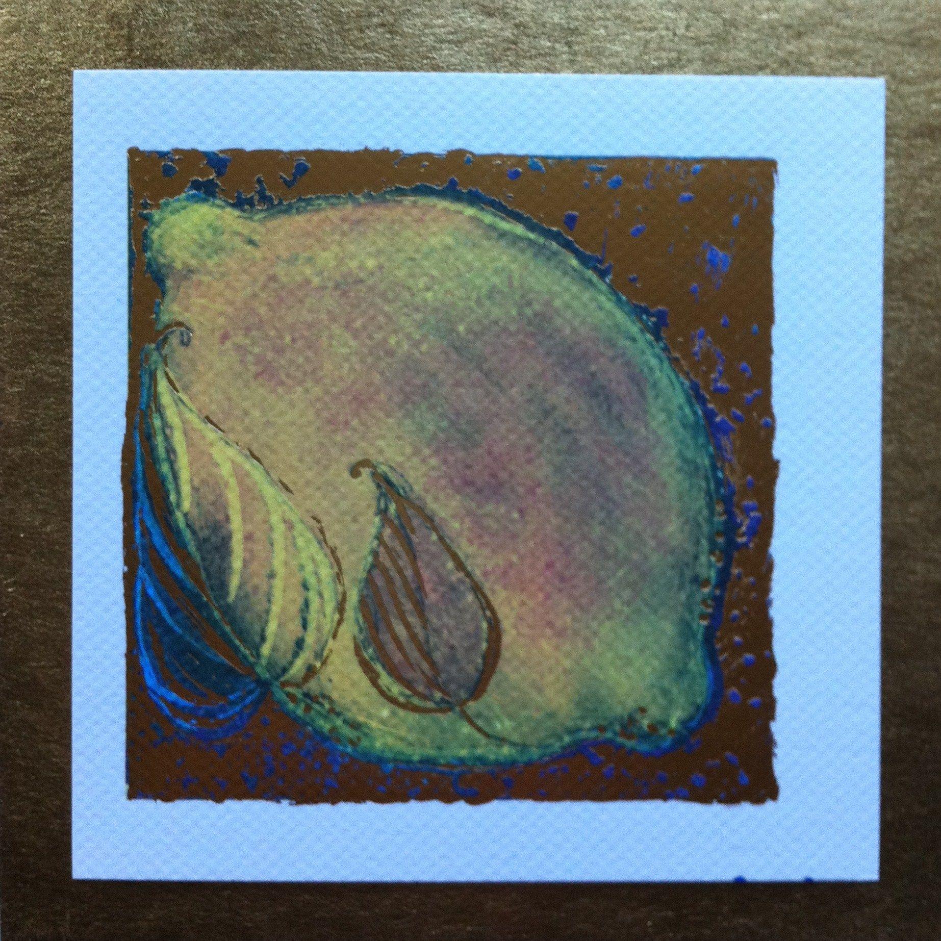 Lemon Limited edition print gilded,12cm x12cm byCassandra Wainhouse