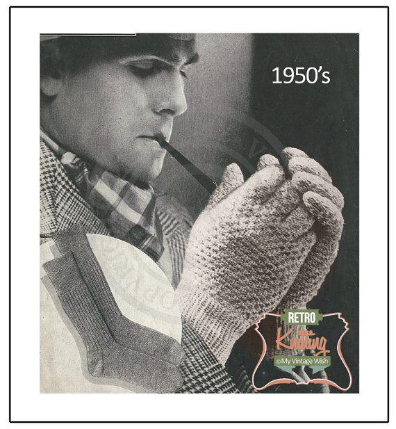1950s Easy Garter Stitch gloves Vintage  Vintage by MyVintageWish