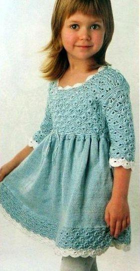 комбинированное вязание платья
