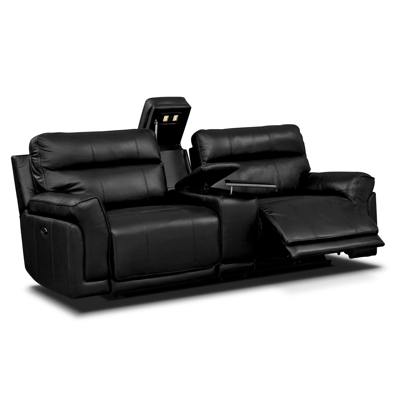 Voyager 3 Pc Power Reclining Sofa with Console