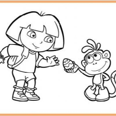 dora coloring valentine easter pages - photo#24