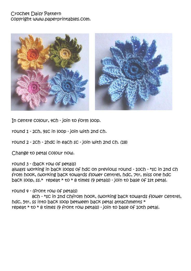 ☀CQ #crochet #crochetflowers http://www.pinterest.com/CoronaQueen ...