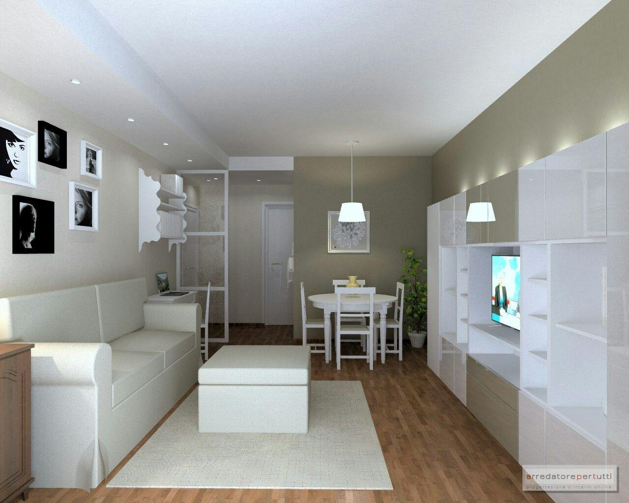 Soggiorno moderno e shabby parete color tortora parete for Progettazione 3d online